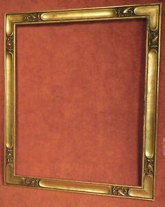 "Antique Florentine Gold Leaf Gothic Picture Frame 15 1/2"" x 18 1/2"" 1925 Vintage"