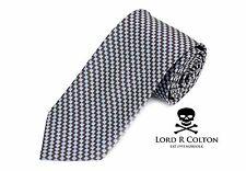 Lord R Colton Basics Tie - Brown & Gray Woven Necktie - $49 Retail New