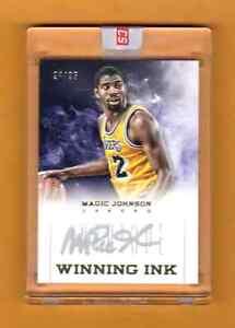 MAGIC JOHNSON 2012-13 PANINI INTRIGUE WINNING INK AUTOGRAPH AUTO # / 25 LAKERS