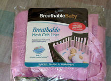 Breathable Mesh Crib Liner By Breathable Baby - Pink - 2 Panels