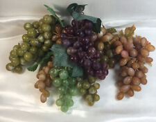 Vintage Group Of Multi Colored Plastic Grapes 7 Bunches