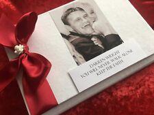 Personalised Memorial Book of Condolence In Loving Funeral Book Photo Luxury