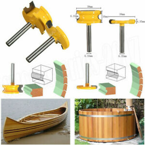 2Pcs 1/2 Inch Shank Flute Bead Router Bits Set Wood Cutter Woodworking Tools Kit