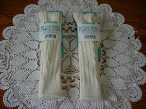 2 Pr Women's Warm Duluth Trading Co Heavy weight Cable Knit Merino Wool Socks