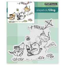 PENNY BLACK RUBBER STAMPS SLAPSTICK CLING FURRY FLIGHT NEW cling STAMP
