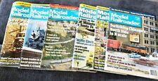 Lot of 6 Model Railroader Magazine Late 90s Vintage Train Locomotive Ho Scale