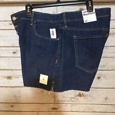 NWT Women's Old Navy Boyfriend Shorts Blue Denim Sz 14 Stretch Button-Up