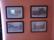 Set of 4 picture prints of East Anglian scenes