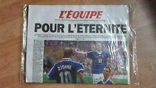 """JOURNAL L'EQUIPE 13 JUILLET 1998 """"POUR L'ÉTERNITÉ"""" objet de collection rare"""
