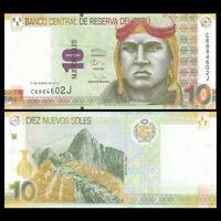 Peru 10 Soles Banknote, 2013, P-187 NEW, UNC, America Paper Money