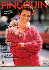 Catalogue tricot Pingouin 33 modèles femme spécial hiver