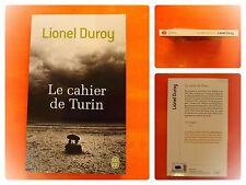 Le cahier de Turin. Lionel Duroy. Roman J'Ai Lu N° 10040