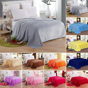 Fleece Sherpa Blanket Large Sofa Bed Travel Throw Warm Thermal Double King Sizes