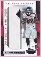 DEVONTA FREEMAN 2016 PANINI CERTIFIED FABRIC OF THE GAME PATCH #28/49
