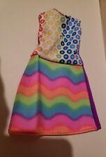 BARBIE CRAYOLA CRAYON RAINBOW  STRIPED DRESS FITS CURVY DOLLS
