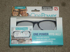 OnePower Black Reading Glasses From +.5 - +2.5  As Seen On TV - NEW - $11.98