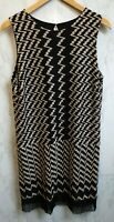 Ana Alcazar Womens Black And Gold Knitted Dress Size UK 12