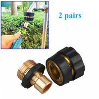 "2Pairs Tap Adapter Universal Garden Hose Quick Connect Set 3/4"" Thread-Sprayer"