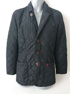 JOULES Men's Hillwood Quilted Blazer Jacket Black - Size S - Small