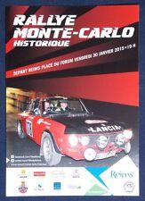 Carte postale Rallye Monté Carlo Historique 2015 départ de Reims Lancia Fulvia
