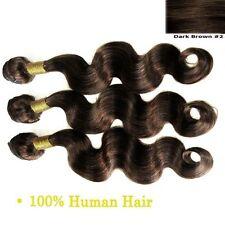 Body Wave 3 Bundles Dark Brown 100% Brazilian Human Hair