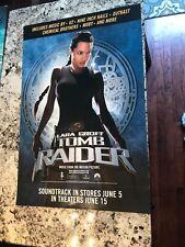 Laura Croft Tomb Raider Soundtrack promo poster, Angelina Jolie 26x18