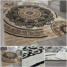 Mandala Motif Brown Living Room Carpet Ornamental Design Modern Home Area Rug
