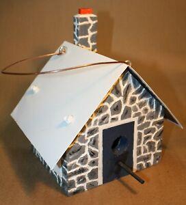 "Handcrafted Wooden ""Stone"" Wren Birdhouse ""BRS 50"""