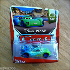 Disney PIXAR Cars CARLA VELOSO 2014 WGP diecast 12/15 Brazil World Grand Prix