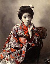 Geisha Girl Japanese Japan Woman Far East Classic 10x8 Inch Photo Reprint