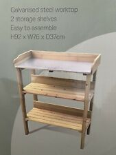 New Garden Potting Table Bench Outdoor Wooden Workstation Shelf🇬🇧H92xW76xD37cm