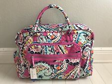 Vera Bradley Weekender Travel Bag in Wildflower Paisley Carry On NEW
