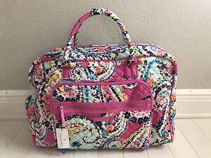 Vera Bradley Weekender Travel Bag in Wildflower Paisley Carry On NEW