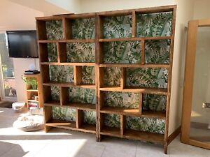Handmade reclaimed rustic chunky pine Bookcase, farmhouse storage unit.