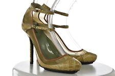 Calvin Klein Collection Womens Beige Textured Heels SZ 37 Platform Shoes
