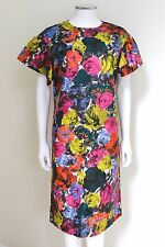 Dries van Noten Floral Bell Sleeve Shift Dress 40 uk 12