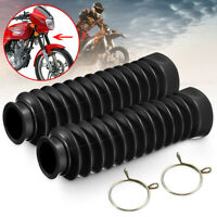2x Motorcycle Rubber Front Fork Dust Cover Gaiters Gaitors Boots Shock Absorber