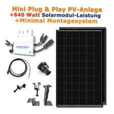 Plug&Play Solaranlage 640 Watt für Haus Garten/ 5m Kabel Minimal Montagesystem