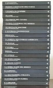 ENCICLOPEDIA LE GRANDI DISTESE SELVAGGE MONDADORI  - 21 volumi come nuovi