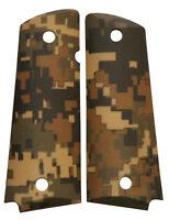 Custom Full Size 1911 Grips Ambidextrous Digital Woodland Camo Colt Kimber Ruger