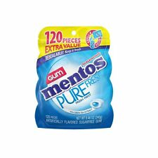 Mentos Pure Fresh Sugar-Free Chewing Gum with Xylitol, Fresh Mint, 120 Piece ...
