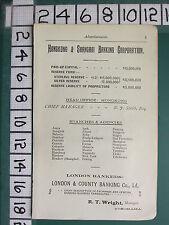 1913 JAPAN JAPANESE TOURIST PRINT ~ ADVERTISEMENT HONGKONG SHANGHAI BANKING CORP
