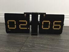 Clock flip wall desk shelf  cloubnola black