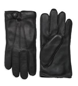 NWT UGG Men's Mestisse Leather & Faux Fur Tech Gloves 0400013872077  BLACK M