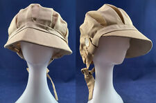 Vintage Edwardian Style Womens Linen Horseless Carriage Motoring Driving Cap Hat