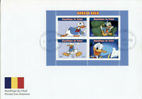 Chad Disney Stamps 2019 FDC Donald Duck Cartoons Animation 4v M/S II