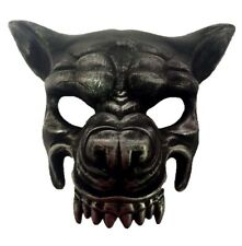 Antique Silver Wolf Half Mask Adult Animal Angry Dog Venetian Costume Accessory