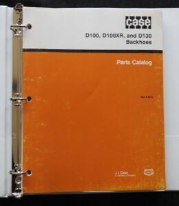 CASE 1830 1835 1845 + C SKID STEER D100 D100XR D130 BACKHOE PARTS CATALOG MANUAL