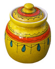 Vintage I. Magnin Original 1960s 1970s Yellow Southwestern Style Art Pottery