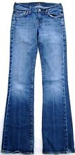 """7 For All Mankind Boot Cut Faded Blue Denim Jeans 27""""W x 31"""" Inseam"""